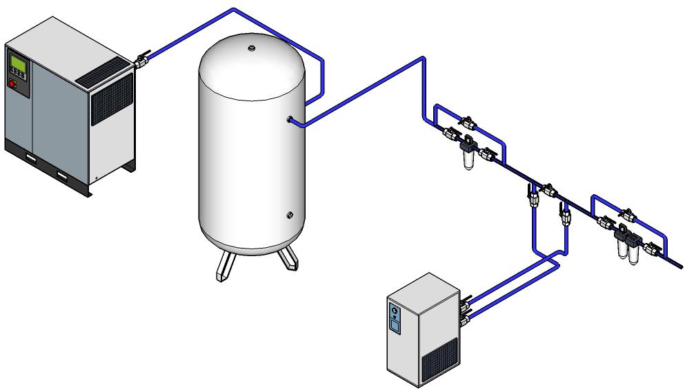 схема подключения воздуха